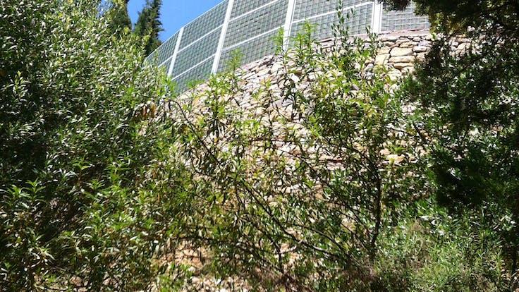Residential area, Benahavis Spain, Noistop fence case, lapinus
