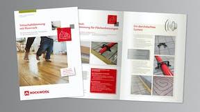 thumb, thumbnail, brochure, floor, footfall sound insulation, broschüre trittschalldämmung mit floorrock, germany
