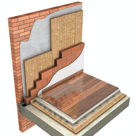 Facade, 05_Fachadas - Aislamiento por el interior - Trasdosado Doble Hora Cerámica_Sistema FIXROCK