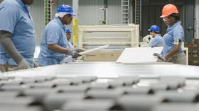 Rockfon, manufacturing, production line, workers