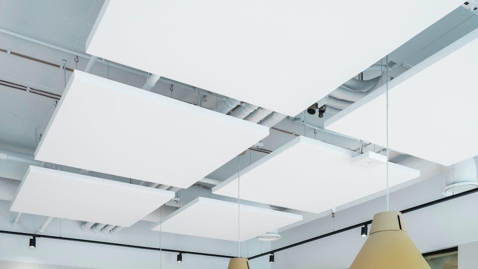 Acoustic ceiling solution: Rockfon Eclipse®, A - Square, 1160 x 1160