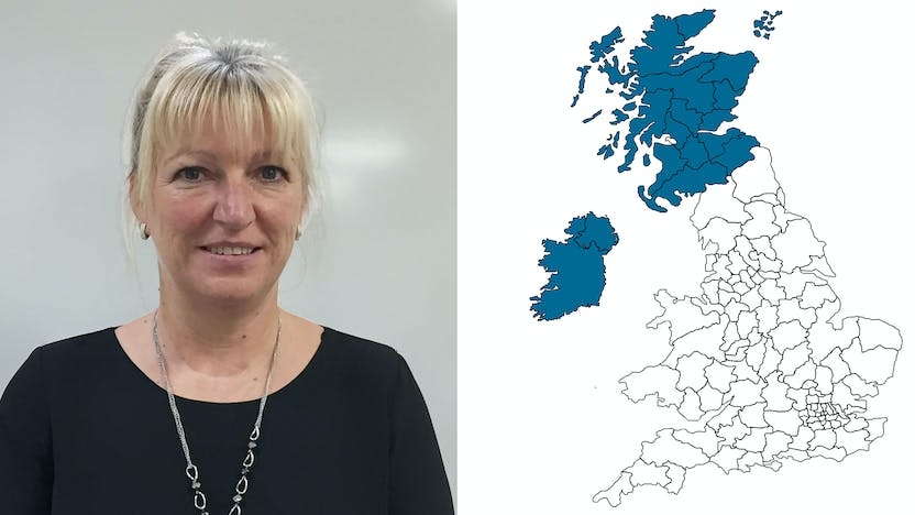 contact person, customer services, profile and map, Sian Lewis, UK