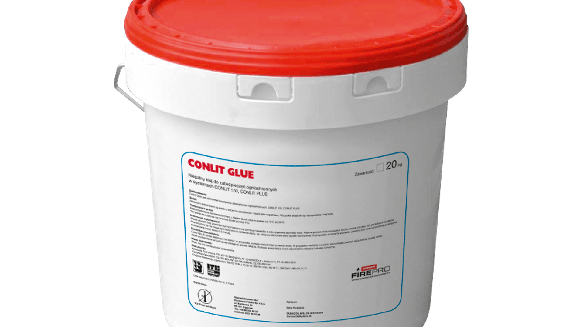 CONLIT GLUE, sealing glue, CONLIT PLUS System and CONLIT 150 System component, fire protective insulation