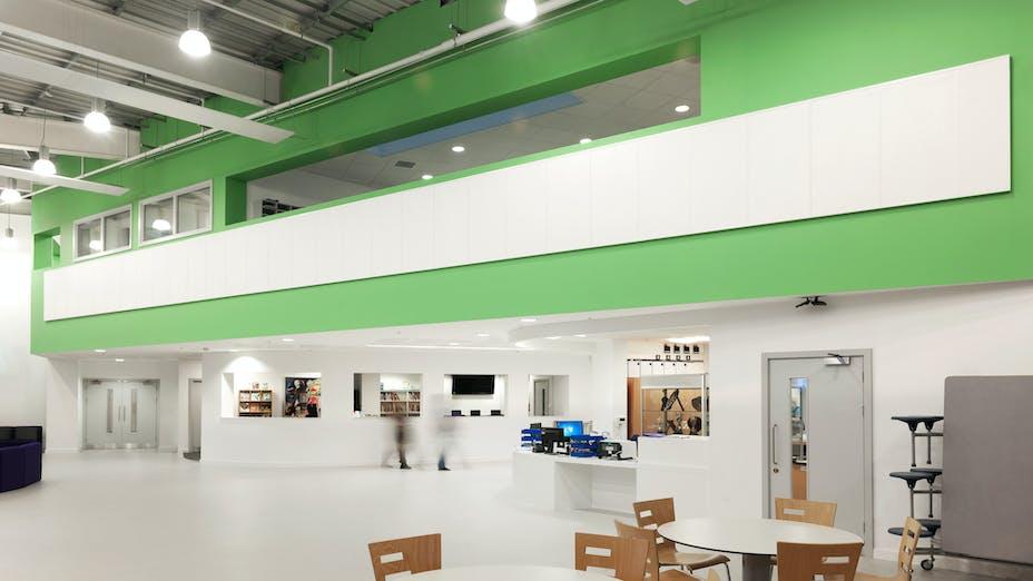 Phoenix Academy, UK, Telford, 2,000m2, Seymour Harris, Kier Construction, Phoenix Academy, Global Contract Interiors Ltd., Simon Jones, White, Scholar, Samson, Wall panels