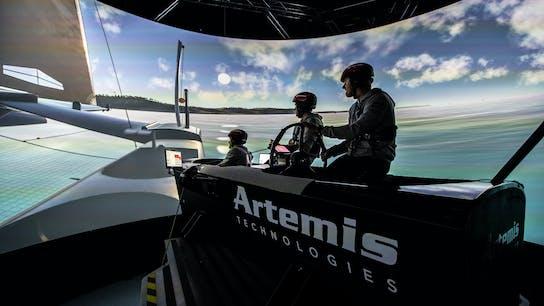 Simulator story, Artemis F50 simulator, sailgp