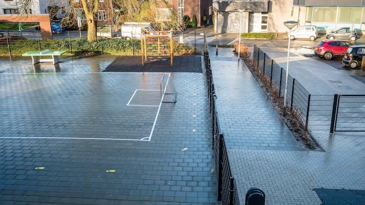 water management, primary school, case, schimmert, schoolyard, soccer, lapinus