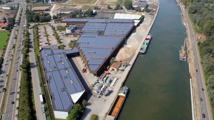 Rockfon, Factory, Chicago Metallic Continental, Drone, outside