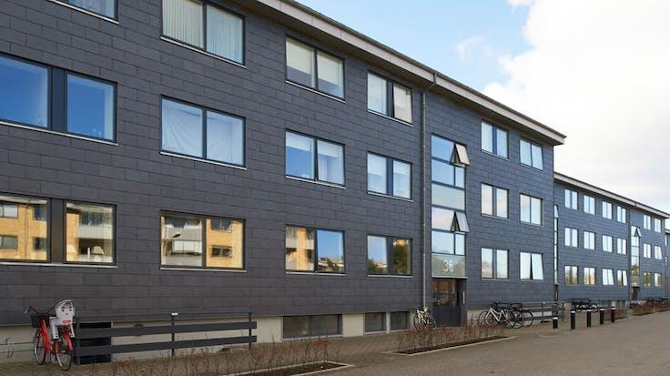 Reference case, Denmark, Grenaa, Fuglevænget, andelsbolig, apartments, REDAir FLEX, indoor climate