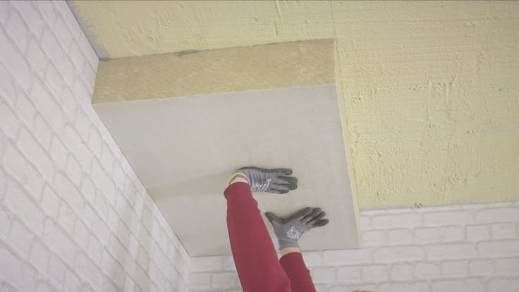 product, ceiling, cellar ceiling, basement ceiling, installer, installation, Planarock Top, germany
