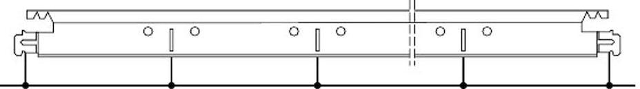 Position des lumières et trous de suspension