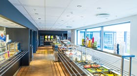 Acoustic ceilings with Rockfon Hygienic ceiling tiles (durable stone wool acoustic ceiling tile for humid environments)
