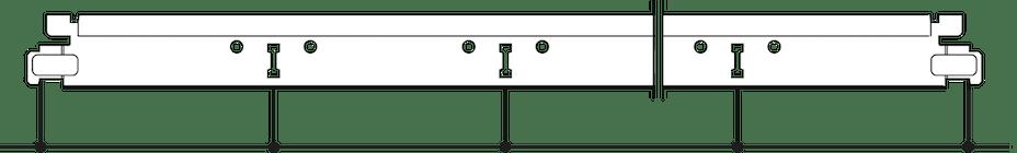 Posición de las ranuras y los orificios de suspensión