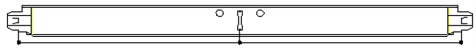 Position of slots and suspension holes
