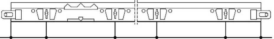 Plassering av utstansninger og hull til pendler