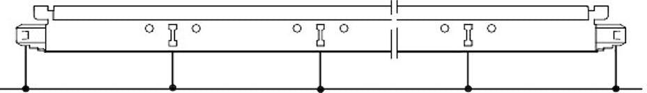 Umiejscowienie otworów montażowych