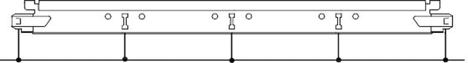 Расположение слотов и отверстий для подвесов